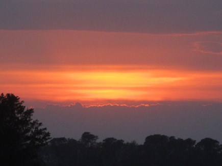 North Chatham Cape Cod vacation rental - Sunset over the Property - June 2021