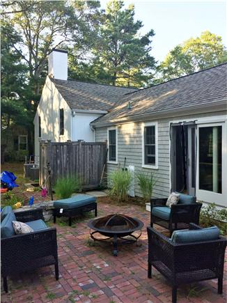 New Seabury New Seabury vacation rental - Back patio with outdoor shower, sliders to dining room.