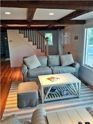New Seabury New Seabury vacation rental - Living Room w/ stairs to 2 guest rooms
