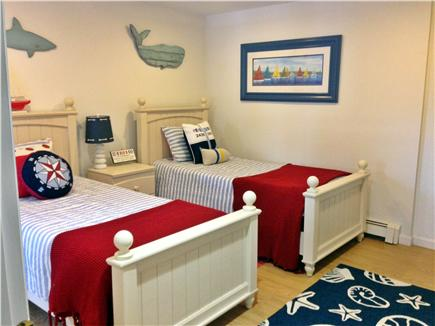 Chatham - Ridgevale Beach  Cape Cod vacation rental - Twin beds with sliders to deck and outside shower