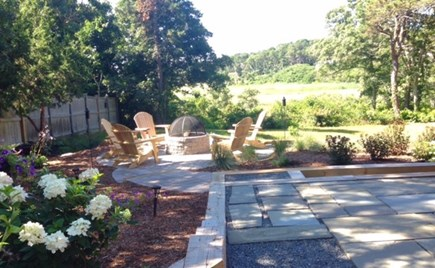 Chatham - Ridgevale Beach  Cape Cod vacation rental - Delightful seating area with fire pit