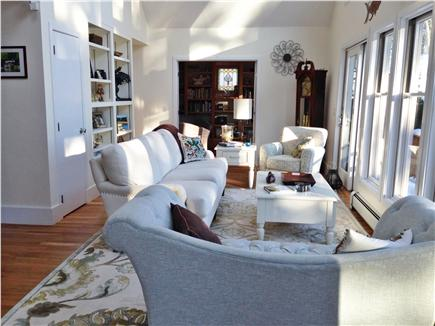 Chatham - Ridgevale Beach  Cape Cod vacation rental - Bright sunny great room with walls floor to ceiling