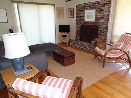 Wellfleet Cape Cod vacation rental - Living room with sliders out to one of the two decks