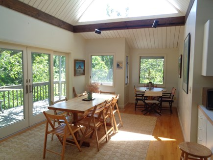 Wellfleet Cape Cod vacation rental - Plenty of dining space with sliders out deck and grill