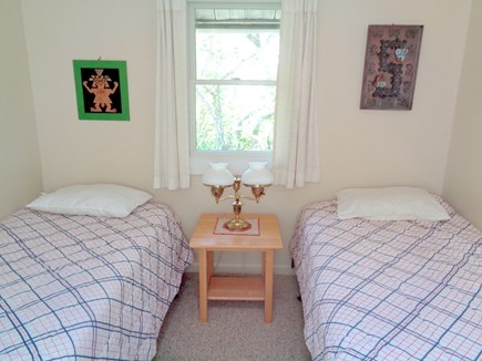 Wellfleet Cape Cod vacation rental - Twins in the main level bedroom (one of 3 bedrooms on main fl)