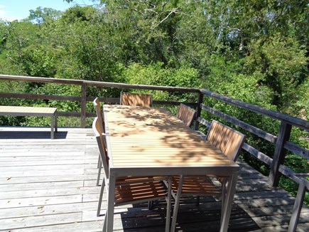 Wellfleet Cape Cod vacation rental - Dining outside of living room area (deck is high off ground - fyi