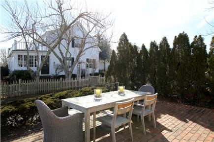 Harwich Port Cape Cod vacation rental - Patio area with dining for 6 guests