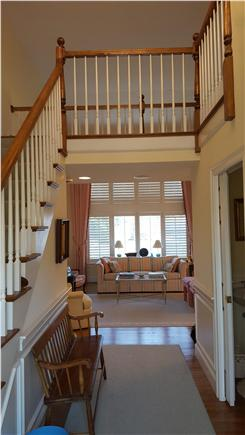 Osterville Osterville vacation rental - Foyer entrance into Living Room with half bath on right
