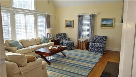 Osterville Osterville vacation rental - Bright Family Room with TV and Fireplace