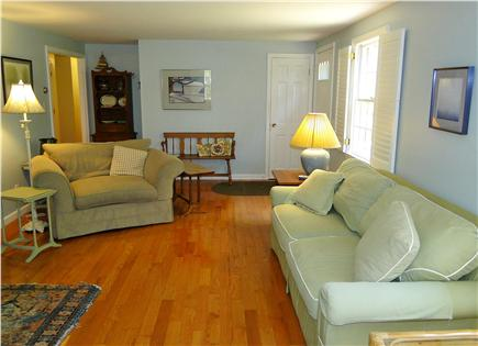 Brewster Cape Cod vacation rental - Large living room with two couches, flat screen TV