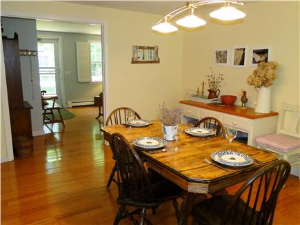 Brewster Cape Cod vacation rental - Bright dining area with hardwood floors, seating for 7.