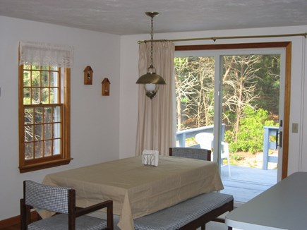 Chatham Cape Cod vacation rental - Dining Area with sliders to the deck