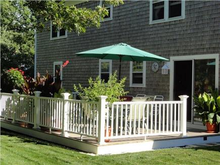 Harwich Port Cape Cod vacation rental - Patio/Deck from Backyard