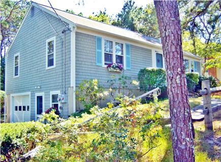 South Dennis Cape Cod vacation rental - Dennis vacation rental ID 26158.  Home is up, away from street.
