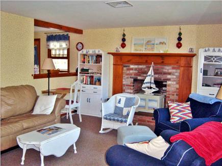South Dennis Cape Cod vacation rental - Living room has lots of comfortable seating and HD-TV and DVD.