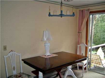 South Dennis Cape Cod vacation rental - Dining room table has seating for six.