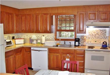 South Dennis Cape Cod vacation rental - Bright, fully-applianced kitchen.