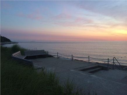 Plymouth MA vacation rental - Stair Entrance to Private Priscilla Beach. Boardwalk entrance too