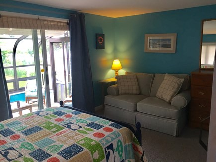 Plymouth MA vacation rental - First Floor Bedroom steps to outside shower and first half bath.