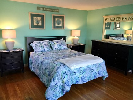 Plymouth MA vacation rental - Master Bedroom with Full length Ocean views from your bed & DecK!