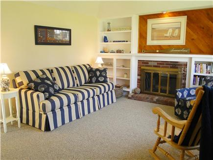 Dennis Cape Cod vacation rental - Newly painted and decorated living room