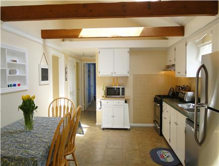Dennis Cape Cod vacation rental - Bright, vaulted kitchen with stainless steel appliances, dining