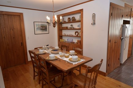 Orleans, Eastham Cape Cod vacation rental - Dining for 6, opens up to full kitchen.