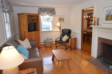 Orleans, Eastham Cape Cod vacation rental - Light filled living room with flat screen TV