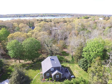 Orleans Cape Cod vacation rental - Aerial photo of house and town cove