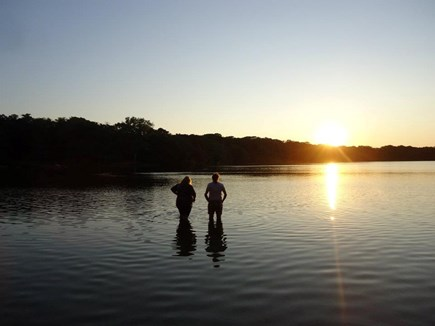 Orleans Cape Cod vacation rental - Sunset at Crystal Lake - the best time to go swimming!