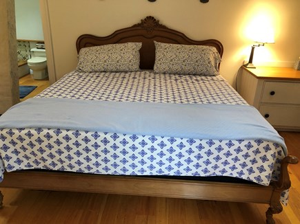 Orleans Cape Cod vacation rental - King Sized Bed in cottage(took the place of the sofa)