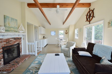 Barnstable  Cape Cod vacation rental - Upstairs family room with flat screen tv and slider to deck