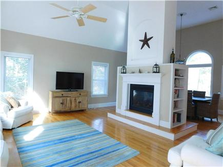Hyannis Cape Cod vacation rental - Living room, gas fireplace