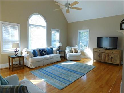 Hyannis Cape Cod vacation rental - Living room, TV, DVR, Sonos wireless speakers, WIFI