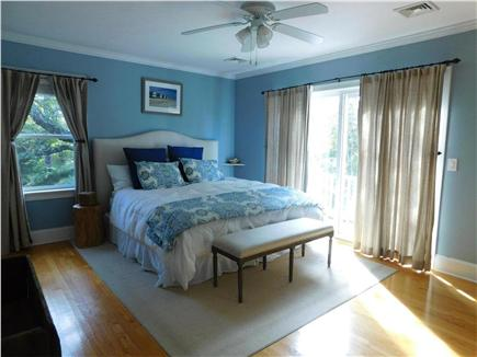 Hyannis Cape Cod vacation rental - Master bedroom (king) with private balcony.