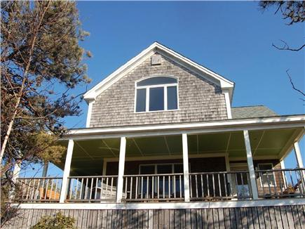 Truro Cape Cod vacation rental - Large, wraparound, covered farmers porch retreat w/water views