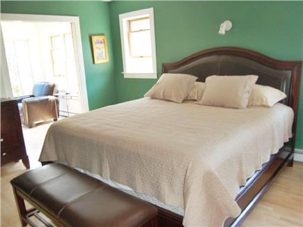 Truro Cape Cod vacation rental - King pillowtop bed w/adjoining sunroom - privacy, sun & flowers