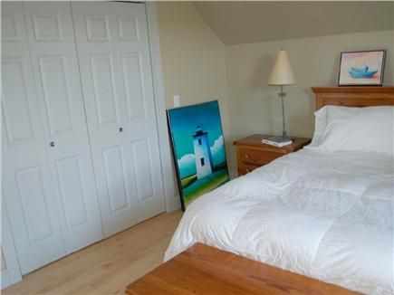 Truro Cape Cod vacation rental - Upstairs queen bedroom overlooking tree filled ravine, sanctuary