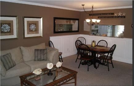 Brewster Cape Cod vacation rental - Living and dining area.