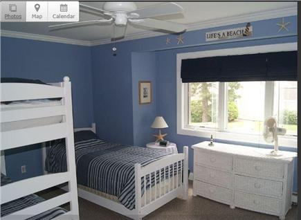 Brewster Cape Cod vacation rental - Newly refurbished kid's room.
