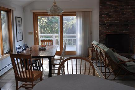 N. Truro Cape Cod vacation rental - Farm table for big dinners