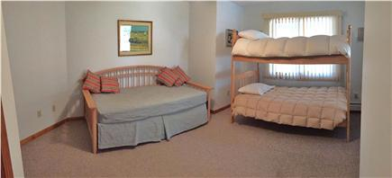 N. Truro Cape Cod vacation rental - Kids' downstairs bedroom with bunkbeds and trundle sleeps 4