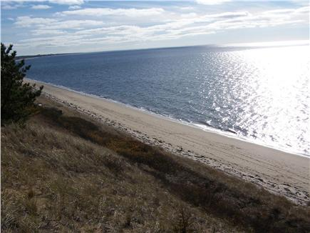 North Truro Cape Cod vacation rental - Sweeping water view from beach stair