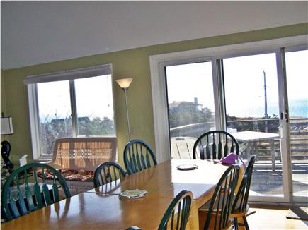 North Truro Cape Cod vacation rental - Dining with view south over Cape Cod Bay
