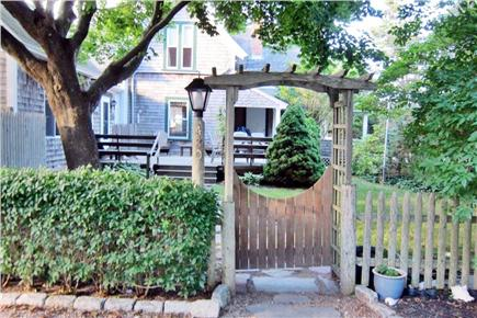 Falmouth, Menauhant Cape Cod vacation rental - Main garden entrance