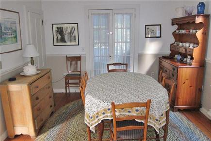 Falmouth, Menauhant Cape Cod vacation rental - Dining room (table extends for eight)