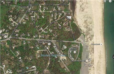 Orleans Cape Cod vacation rental - Aerial view showing property location and nauset beach.