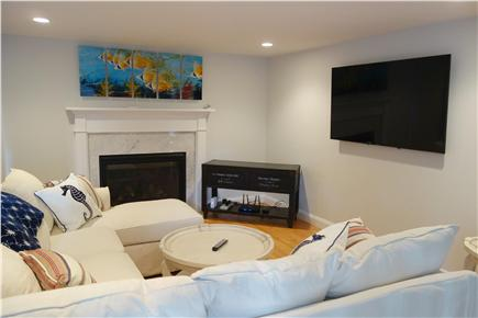 South Yarmouth Cape Cod vacation rental - Elegant Living Room with Gas Fireplace