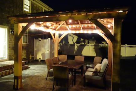 South Yarmouth Cape Cod vacation rental - After a nice day at the beach, relax in the beautiful back yard.