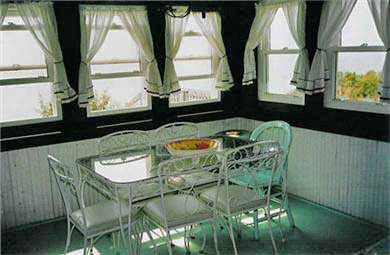 North Truro Cape Cod vacation rental - Dining area overlooking water